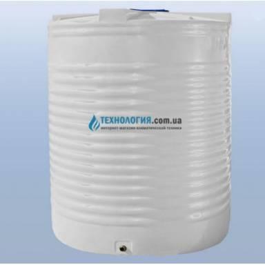 Емкость объемом 12500 литров однослойная в вертикальном исполнении