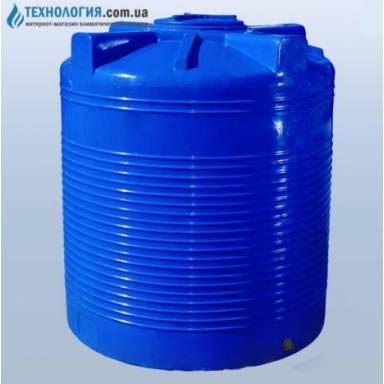 Емкость объемом 1500 литров двухслойная в вертикальном исполнении