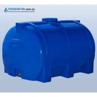 Емкость объемом 200 литров однослойная в горизонтальном исполнении