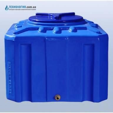 Емкость объемом 200 литров двухслойная в квадратном исполнении