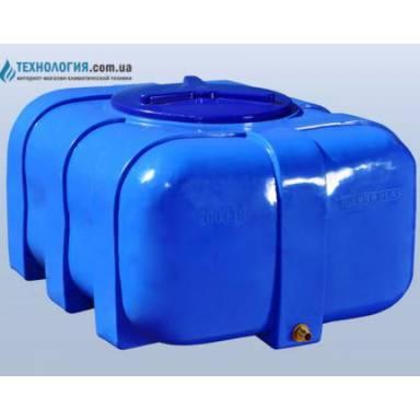 Емкость объемом 200 литров двухслойная в овальном исполнении
