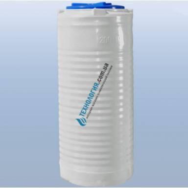 Емкость объемом 200 литров однослойная в вертикальном исполнении