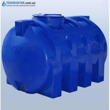 Емкость объемом 2000 литров двухслойная в горизонтальном исполнении