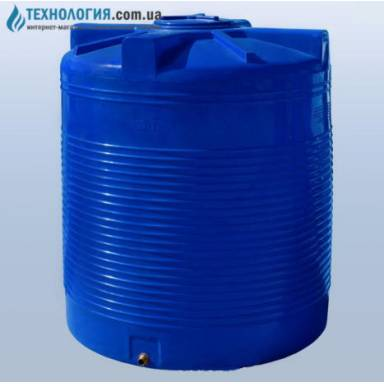 Емкость объемом 2000 литров двухслойная в вертикальном исполнении