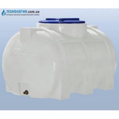 Емкость объемом 250 литров однослойная в горизонтальном исполнении