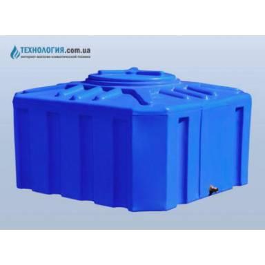 Емкость объемом 300 литров двухслойная в квадратном исполнении
