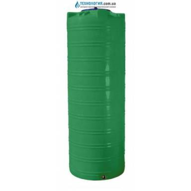 Емкость объемом 300 литров узкая однослойная в вертикальном исполнении