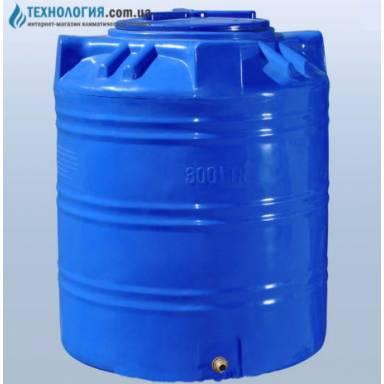 Емкость объемом 300 литров двухслойная в вертикальном исполнении