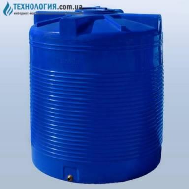 Емкость объемом 3000 литров двухслойная в вертикальном исполнении