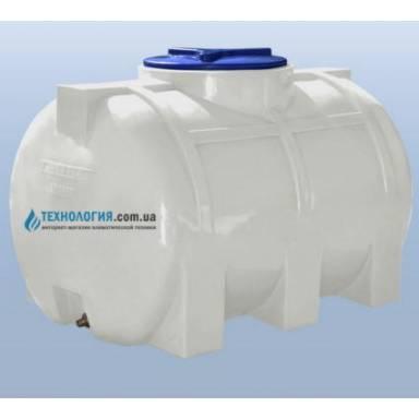 Емкость объемом 350 литров однослойная в горизонтальном исполнении