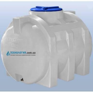 Емкость объемом 500 литров однослойная в горизонтальном исполнении
