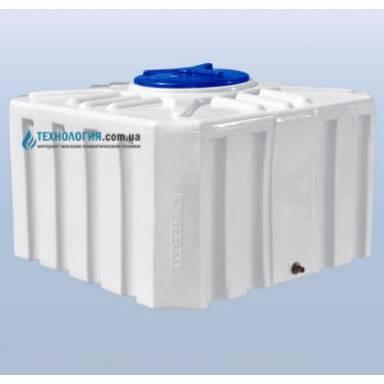 Емкость объемом 500 литров однослойная в квадратном исполнении