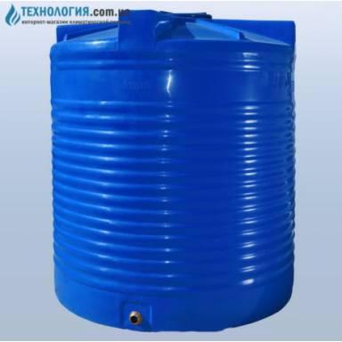 Емкость объемом 5000 литров вдухслойная в вертикальном исполнении