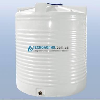 Емкость объемом 5000 литров однослойная в вертикальном исполнении