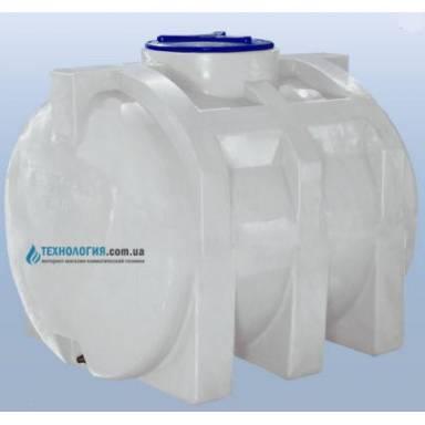 Емкость объемом 750 литров однослойная в горизонтальном исполнении