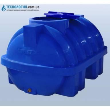 Емкость объемом 750 литров усиленная с ребром двухслойная в горизонтальном исполнении