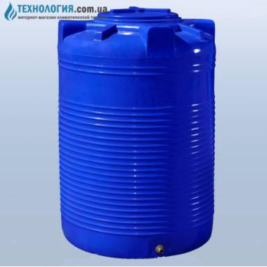 Емкость объемом 750 литров двухслойная в вертикальном исполнении