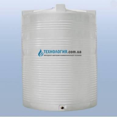 Емкость объемом 7500 литров однослойная в вертикальном исполнении
