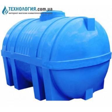 Емкость объемом 3000 литров двухслойная в горизонтальном исполнении