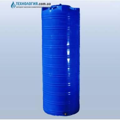 Емкость объемом 1000 литров узкая двухслойная в вертикальном исполнении