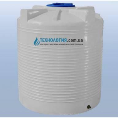 Емкость объемом 1500 литров однослойная в вертикальном исполнении