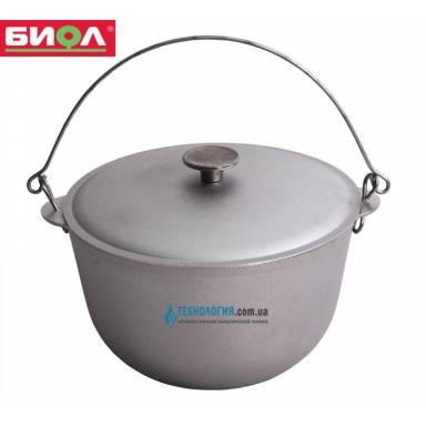 Казан походный с крышкой и дужкой 22 литров диаметр 400мм