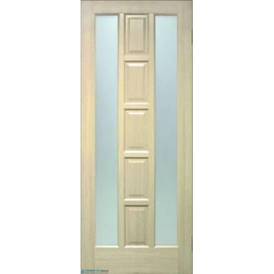 Межкомнатная дверь Квадрат ПВХ со стеклом