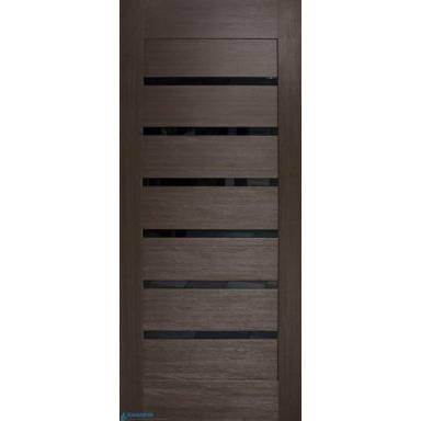 Межкомнатная дверь Лагуна ПВХ полотно с черным стеклом