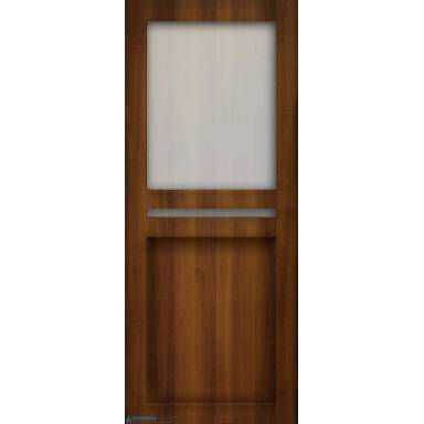 Межкомнатная дверь Палермо 2 ПВХ со стеклом
