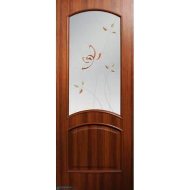 Межкомнатная дверь Адель ПВХ полотно со стеклом
