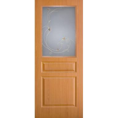 Межкомнатная дверь Барселона ПВХ полотно со стеклом
