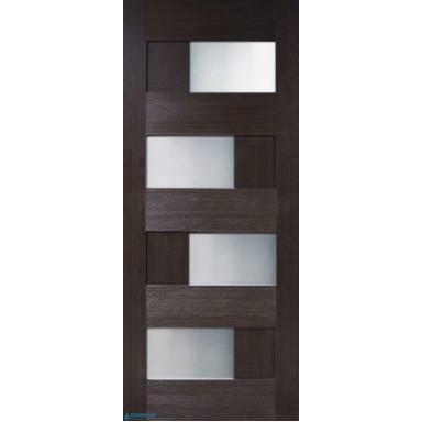 Межкомнатная дверь Домино 2 ПВХ полотно со стеклом