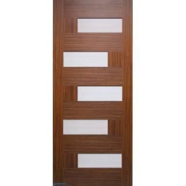 Межкомнатная дверь Домино ПВХ полотно со стеклом