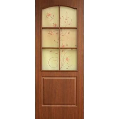 Межкомнатная дверь Классика ПВХ полотно со стеклом