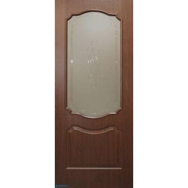 Межкомнатная дверь Прима ПВХ полотно со стеклом