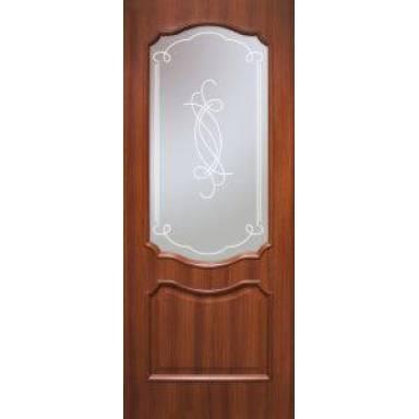 Межкомнатная дверь Прованс ПВХ полотно со стеклом
