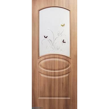 Межкомнатная дверь Лика ПВХ полотно со стеклом