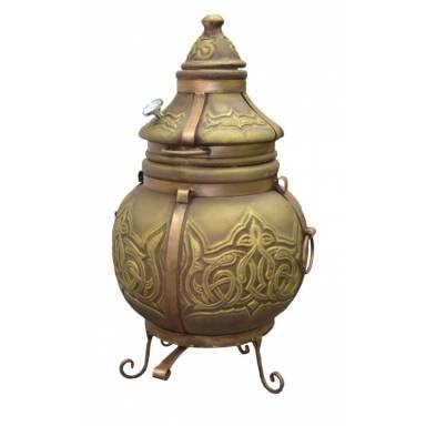 Печь тандыр Батыр Хан с решеткой и шампурами 5 шт. в комплекте