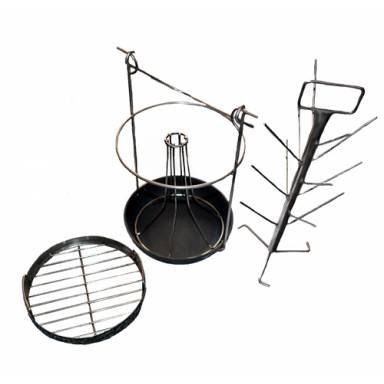 Трансформер комплект 3 в 1-ом для тандыра с горловиной диаметром 240 мм с чугунной сковородкой