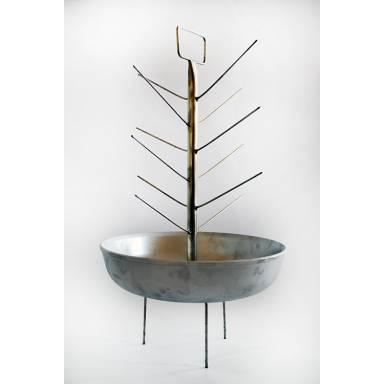 Елка из нержавеющей стали с алюминиевой сковородкой для тандыра с горловиной диаметром 280 мм