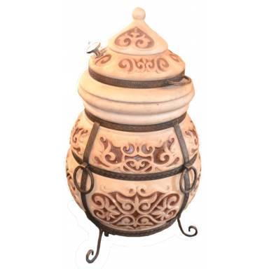 Печь тандыр переносной Монгол-С с решеткой для шампуровдиаметр горловины 32 см.