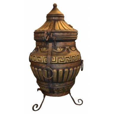 Печь тандыр Римский с решеткой и шампурами 5 шт. в комплекте