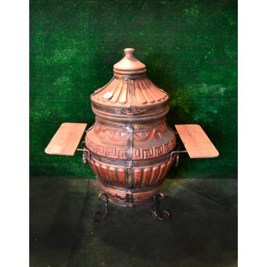 Печь тандыр Античный с решеткой и шампурами 5 шт. в комплекте