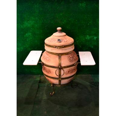 Печь тандыр Чингиз с решеткой и шампурами 5 шт. в комплекте