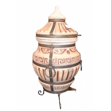 Печь тандыр Римский-С с решеткой и шампурами 5 шт. в комплекте