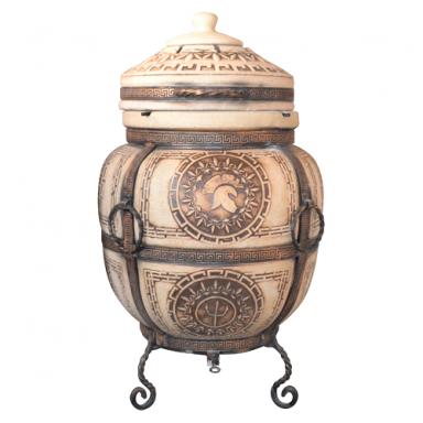 """Печь тандыр """"дизайн """"Античный"""" 75 литров с решеткой лопаткой и кочергой в комплекте"""