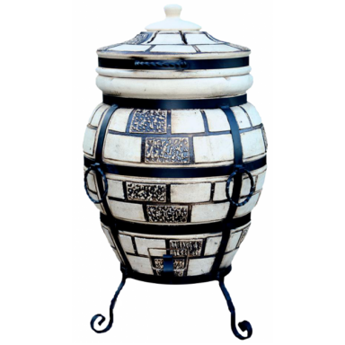 """Печь тандыр """"дизайн """"Кирпич"""" 85 литров с решеткой лопаткой и кочергой в комплекте"""