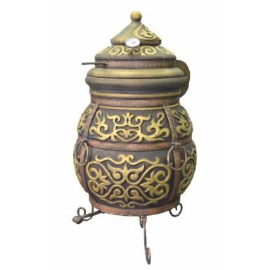 Печь тандыр переносной Монгол с решеткой для шампуровдиаметр горловины 32 см.