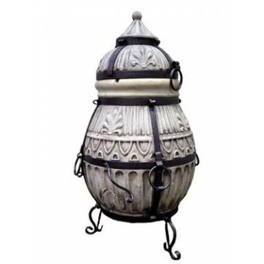 """Печь тандыр """"Славянский 1"""" объем 80 литров с решеткой сеткой и шомпурами в комплекте"""