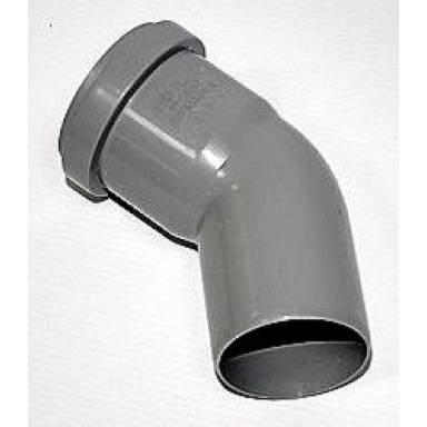Канализационное колено Европласт диаметр 75 мм угол 45°